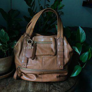 Roccatella Tobacco Color Leather Bag